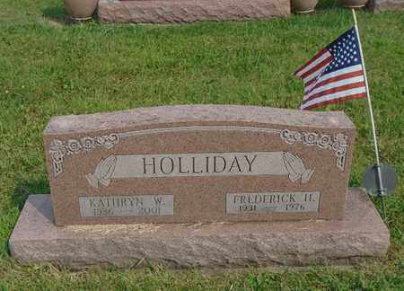 HOLLIDAY, KATHRYN W. - Fairfield County, Ohio | KATHRYN W. HOLLIDAY - Ohio Gravestone Photos