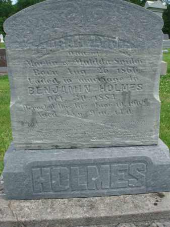 SNIDER HOLMES, SARAH LYDIA - Fairfield County, Ohio   SARAH LYDIA SNIDER HOLMES - Ohio Gravestone Photos