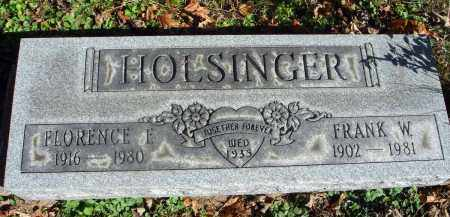 HOLSINGER, FRANK W. - Fairfield County, Ohio | FRANK W. HOLSINGER - Ohio Gravestone Photos