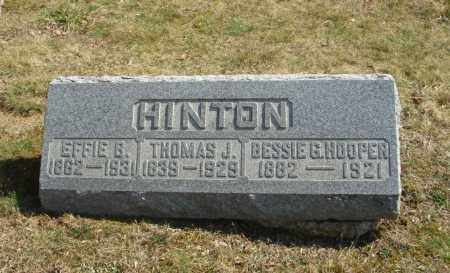 HOOPER, BESSIE G - Fairfield County, Ohio | BESSIE G HOOPER - Ohio Gravestone Photos