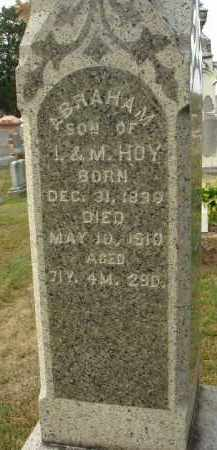 HOY, ABRAHAM - Fairfield County, Ohio   ABRAHAM HOY - Ohio Gravestone Photos