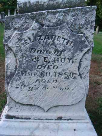 HOY, ELIZABETH - Fairfield County, Ohio   ELIZABETH HOY - Ohio Gravestone Photos