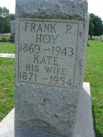 HOY, FRANK P. - Fairfield County, Ohio | FRANK P. HOY - Ohio Gravestone Photos