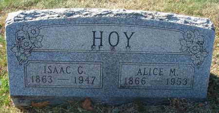 HOY, ISAAC - Fairfield County, Ohio | ISAAC HOY - Ohio Gravestone Photos