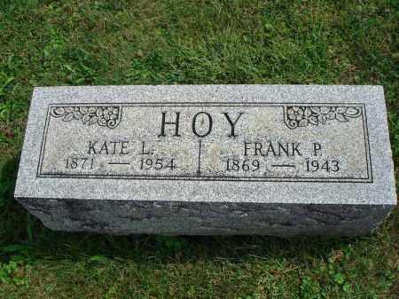 HOY, KATE L. - Fairfield County, Ohio | KATE L. HOY - Ohio Gravestone Photos