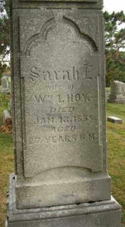 HOY, SARAH E. - Fairfield County, Ohio | SARAH E. HOY - Ohio Gravestone Photos