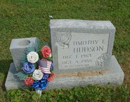 HUDSON, TIMOTHY E. - Fairfield County, Ohio   TIMOTHY E. HUDSON - Ohio Gravestone Photos