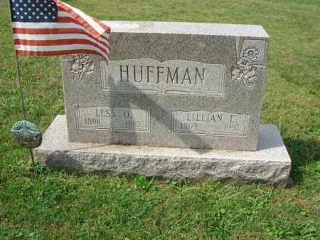 HUFFMAN, LESS O. - Fairfield County, Ohio | LESS O. HUFFMAN - Ohio Gravestone Photos