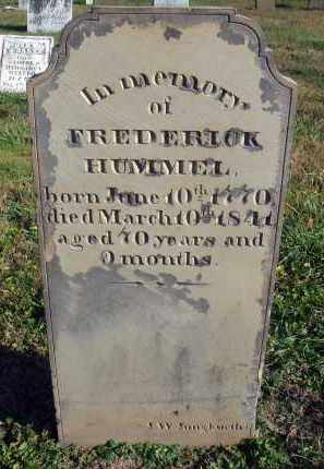 HUMMEL, FREDERICK - Fairfield County, Ohio | FREDERICK HUMMEL - Ohio Gravestone Photos