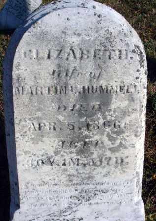 HUMMELL, ELIZABETH - Fairfield County, Ohio | ELIZABETH HUMMELL - Ohio Gravestone Photos