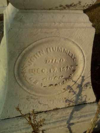 HUMMELL, JOHN - Fairfield County, Ohio | JOHN HUMMELL - Ohio Gravestone Photos