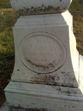 HUMMELL, MARY - Fairfield County, Ohio   MARY HUMMELL - Ohio Gravestone Photos