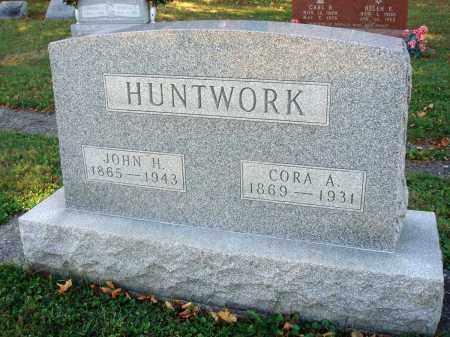 HUNTWORK, CORA A. - Fairfield County, Ohio | CORA A. HUNTWORK - Ohio Gravestone Photos