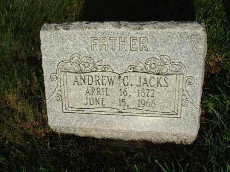 JACKS, ANDREW G. - Fairfield County, Ohio | ANDREW G. JACKS - Ohio Gravestone Photos