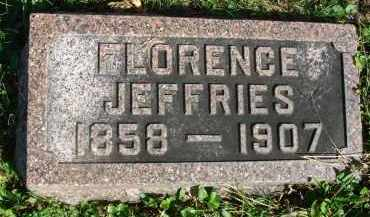 JEFFRIES, FLORENCE - Fairfield County, Ohio | FLORENCE JEFFRIES - Ohio Gravestone Photos