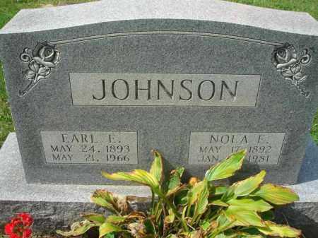 JOHNSON, EARL E. - Fairfield County, Ohio | EARL E. JOHNSON - Ohio Gravestone Photos