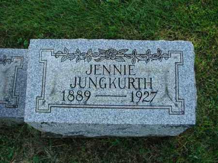 JUNGKURTH, JENNIE - Fairfield County, Ohio | JENNIE JUNGKURTH - Ohio Gravestone Photos
