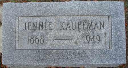 KAUFFMAN, JENNIE - Fairfield County, Ohio | JENNIE KAUFFMAN - Ohio Gravestone Photos