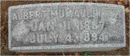 KENT, ALBERT MUMAUGH - Fairfield County, Ohio | ALBERT MUMAUGH KENT - Ohio Gravestone Photos