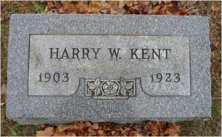 KENT, HARRY W. - Fairfield County, Ohio   HARRY W. KENT - Ohio Gravestone Photos