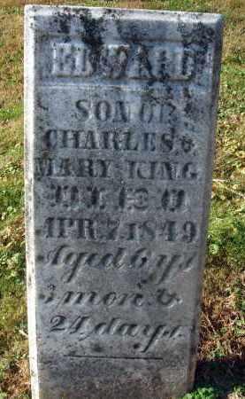 KING, EDWARD - Fairfield County, Ohio   EDWARD KING - Ohio Gravestone Photos