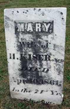 KISER, MARY - Fairfield County, Ohio | MARY KISER - Ohio Gravestone Photos