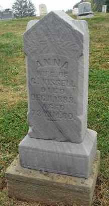KISSELL, ANNA - Fairfield County, Ohio | ANNA KISSELL - Ohio Gravestone Photos