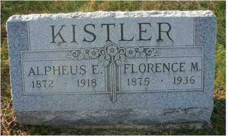 KISTLER, ALPHAEUS ELIJAH - Fairfield County, Ohio | ALPHAEUS ELIJAH KISTLER - Ohio Gravestone Photos