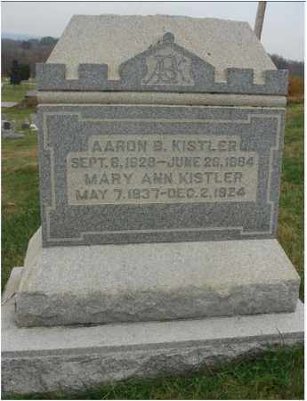 BOYER KISTLER, MARY ANN - Fairfield County, Ohio | MARY ANN BOYER KISTLER - Ohio Gravestone Photos