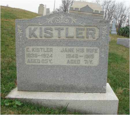 KISTLER, JANE - Fairfield County, Ohio | JANE KISTLER - Ohio Gravestone Photos