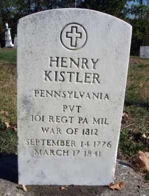 KISTLER, HENRY - Fairfield County, Ohio | HENRY KISTLER - Ohio Gravestone Photos