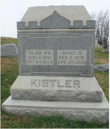 KISTLER, SILAS WILLIAM - Fairfield County, Ohio | SILAS WILLIAM KISTLER - Ohio Gravestone Photos
