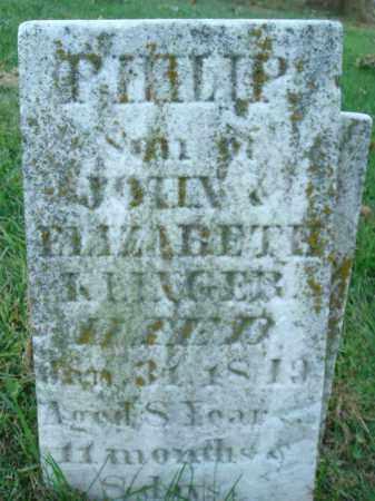 KLINGER, PHILIP - Fairfield County, Ohio | PHILIP KLINGER - Ohio Gravestone Photos
