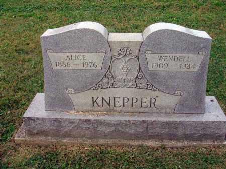 KNEPPER, ALICE - Fairfield County, Ohio | ALICE KNEPPER - Ohio Gravestone Photos