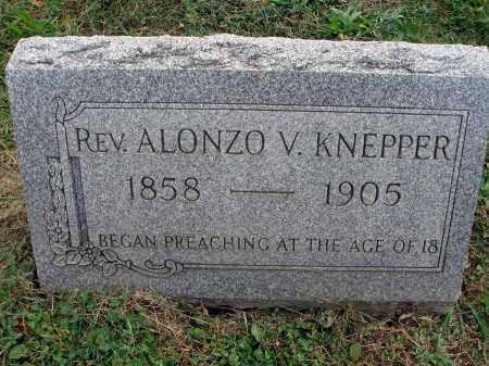 KNEPPER, ALONZO V. - Fairfield County, Ohio | ALONZO V. KNEPPER - Ohio Gravestone Photos