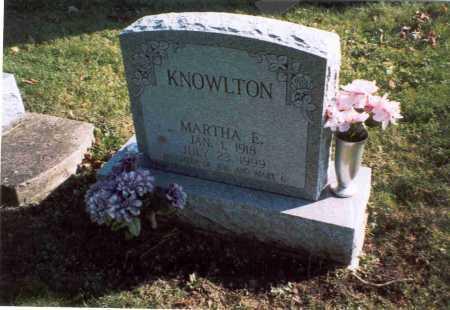 KNOWLTON, MARTHA E. - Fairfield County, Ohio | MARTHA E. KNOWLTON - Ohio Gravestone Photos