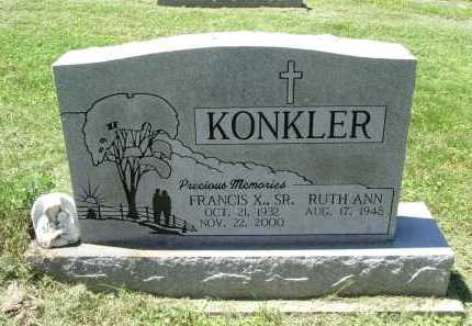 KONKLER, SR., FRANCIS X. - Fairfield County, Ohio | FRANCIS X. KONKLER, SR. - Ohio Gravestone Photos