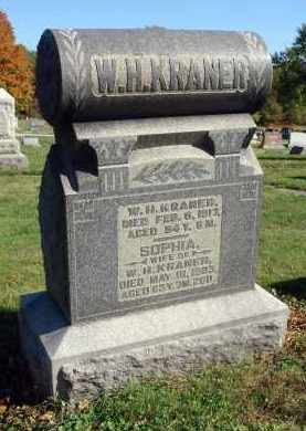 KRANER, W. H. - Fairfield County, Ohio | W. H. KRANER - Ohio Gravestone Photos