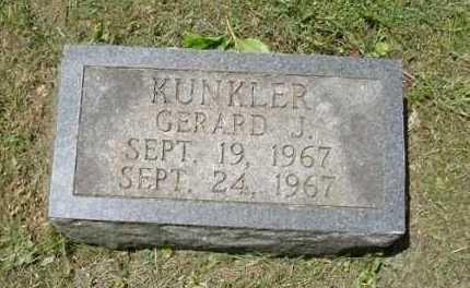 KUNKLER, GERALD J. - Fairfield County, Ohio | GERALD J. KUNKLER - Ohio Gravestone Photos