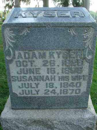 KYSER, SUSANNAH - Fairfield County, Ohio   SUSANNAH KYSER - Ohio Gravestone Photos
