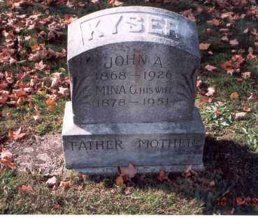 KYSER, JOHN A. - Fairfield County, Ohio | JOHN A. KYSER - Ohio Gravestone Photos