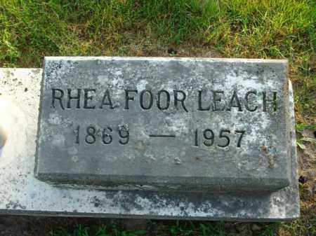 FOOR LEACH, RHEA - Fairfield County, Ohio | RHEA FOOR LEACH - Ohio Gravestone Photos