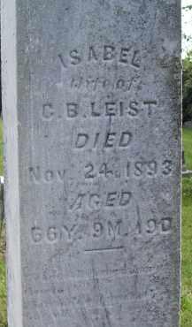 WANN LEIST, ISABEL - Fairfield County, Ohio | ISABEL WANN LEIST - Ohio Gravestone Photos