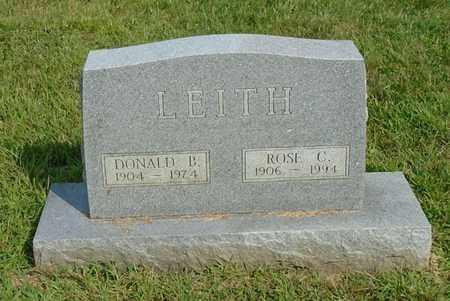 LEITH, DONALD B. - Fairfield County, Ohio   DONALD B. LEITH - Ohio Gravestone Photos