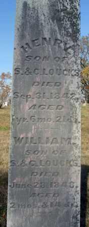 LOUCKS, HENRY - Fairfield County, Ohio | HENRY LOUCKS - Ohio Gravestone Photos