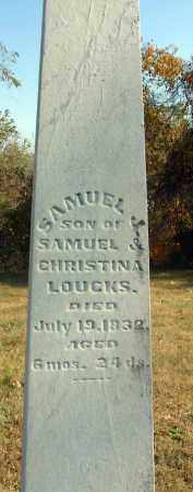 LOUCKS, SAMUEL J. - Fairfield County, Ohio | SAMUEL J. LOUCKS - Ohio Gravestone Photos
