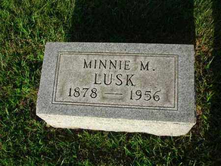 LUSK, MINNIE M. - Fairfield County, Ohio | MINNIE M. LUSK - Ohio Gravestone Photos