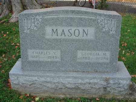MASON, GEORGIA M. - Fairfield County, Ohio   GEORGIA M. MASON - Ohio Gravestone Photos