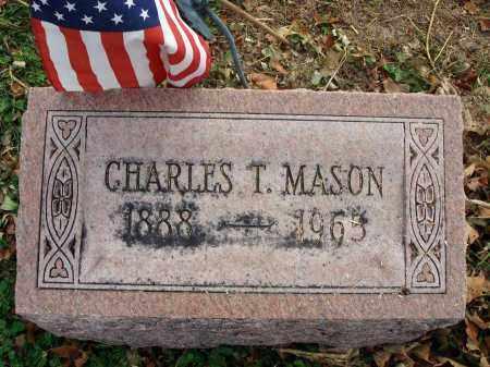MASON, CHARLES T. - Fairfield County, Ohio | CHARLES T. MASON - Ohio Gravestone Photos