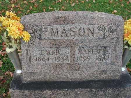 MASON, MARIETTA - Fairfield County, Ohio | MARIETTA MASON - Ohio Gravestone Photos